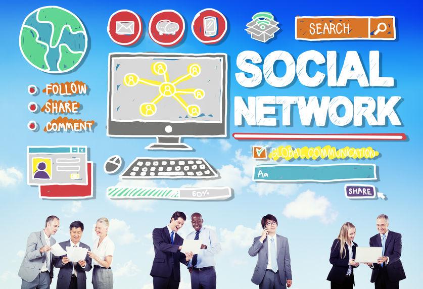 44629676 - social network social media internet www web online concept